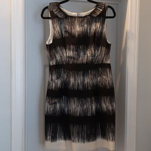 BANANA REPUBLIC Silk Sheath Dress Ruffled Collar